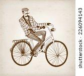 retro hand drawn gentleman with ... | Shutterstock .eps vector #226094143