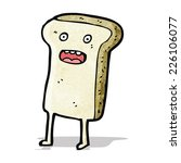 sliced bread cartoon character | Shutterstock .eps vector #226106077
