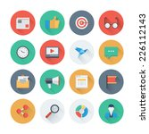 pixel perfect flat icons set... | Shutterstock .eps vector #226112143