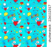 comic seamless pattern for... | Shutterstock .eps vector #226112317