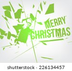 abstract destroy lines  ... | Shutterstock .eps vector #226134457