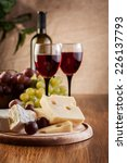 cheese with a bottle and... | Shutterstock . vector #226137793
