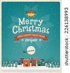 christmas greeting card design. ... | Shutterstock .eps vector #226138993