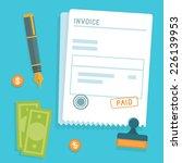vector invoice concept in flat... | Shutterstock .eps vector #226139953