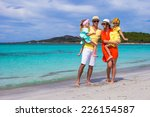happy family of four during... | Shutterstock . vector #226154587