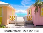 bright colored houses on an... | Shutterstock . vector #226154713