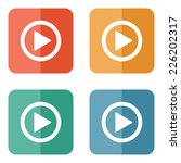 play button web icon   flat... | Shutterstock .eps vector #226202317