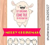 "card ""merry christmas"" with... 