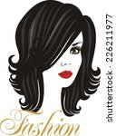 beautiful brunette | Shutterstock .eps vector #226211977