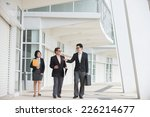 asian busines team outdoor... | Shutterstock . vector #226214677