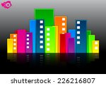 multicolored abstract house