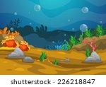 illustration of under the sea... | Shutterstock .eps vector #226218847