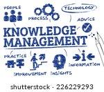 knowledge management. chart... | Shutterstock .eps vector #226229293