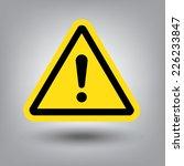 hazard warning attention sign... | Shutterstock .eps vector #226233847