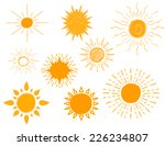 set of different hand drawn sun ... | Shutterstock .eps vector #226234807