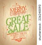 merry christmas great sale... | Shutterstock .eps vector #226240093