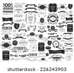 mega set of ornate frames and... | Shutterstock .eps vector #226243903