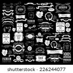 mega set of ornate frames and... | Shutterstock .eps vector #226244077