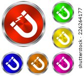 attention magnet sign icon  ... | Shutterstock .eps vector #226264177