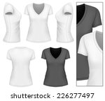 women's v neck t shirt design... | Shutterstock .eps vector #226277497