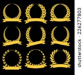 set of golden silhouette... | Shutterstock .eps vector #226277803