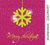 holiday greeting card with... | Shutterstock .eps vector #226296397
