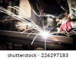 welding steel | Shutterstock . vector #226297183
