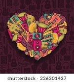 colorful music heart. vector... | Shutterstock .eps vector #226301437
