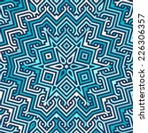 celtic knot doily round lace...   Shutterstock .eps vector #226306357