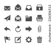 Stock vector email application icon set vector eps 226306513