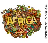 africa hand lettering and... | Shutterstock .eps vector #226308553