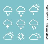 set of weather icons. | Shutterstock .eps vector #226318357