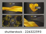 set of abstract gold club cards | Shutterstock .eps vector #226322593