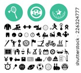 sports icons set on white... | Shutterstock .eps vector #226324777