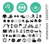 sports icons set on white... | Shutterstock .eps vector #226324777