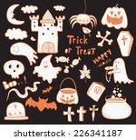 halloween symbols   Shutterstock .eps vector #226341187