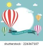 air balloon flying  | Shutterstock . vector #226367107