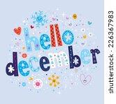 hello december   Shutterstock .eps vector #226367983