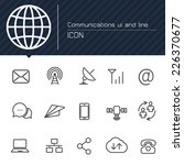 communications ui and line icon