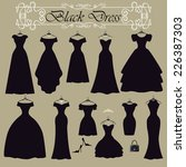 fashion composition.black party ... | Shutterstock .eps vector #226387303