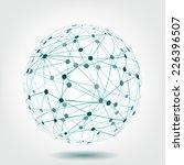 abstract dark blue sphere... | Shutterstock .eps vector #226396507