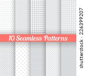 10 light grey seamless patterns ...