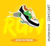 vector stylized sneakers sports  | Shutterstock .eps vector #226411687