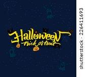 halloween trick or treat card... | Shutterstock .eps vector #226411693