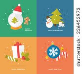 set of christmas icons. flat...