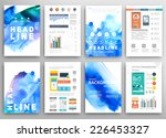 set of vector poster templates...   Shutterstock .eps vector #226453327