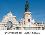 the equestrian statue of king... | Shutterstock . vector #226455637