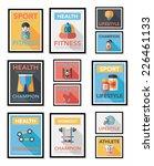 sport poster flat banner design ... | Shutterstock .eps vector #226461133