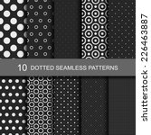10 Dark geometric seamless patterns
