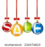 christmas sale message for your ... | Shutterstock .eps vector #226476823